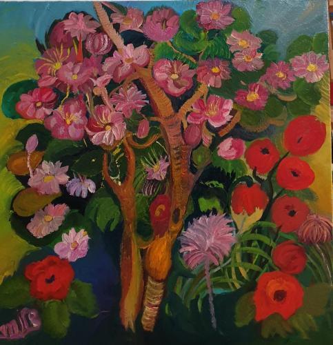 flowers tree 0il 80x80-min