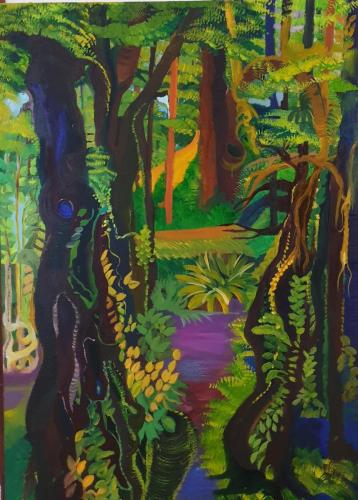 The rain forest oil 80x120-min