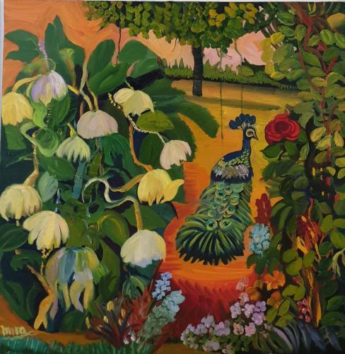 In my garden 80x80 oil-min