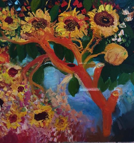 The suns flower dance oil 80x80-min
