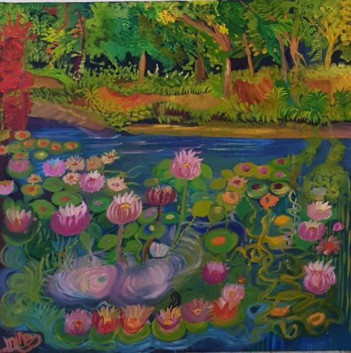Water flowers oil 80x80-min