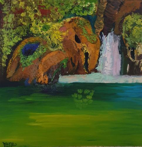 Waterfall 80x80 oil-min