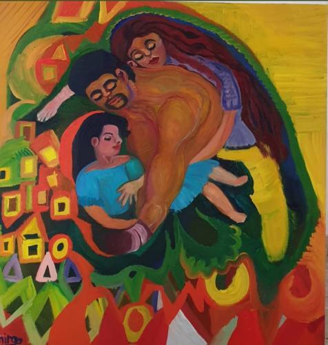 The loving family 80x80 oil-min