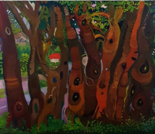 Trees in New Ziland 80x100 oil-min